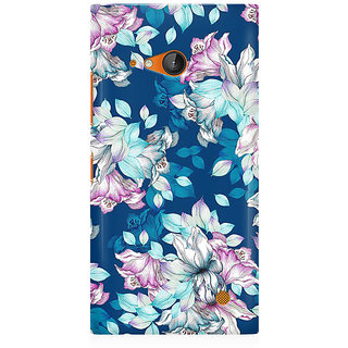 RAYITE Blue Floral Hub Premium Printed Mobile Back Case Cover For Nokia Lumia 730