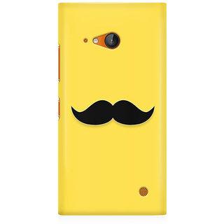 RAYITE Classic Mustache Print Premium Printed Mobile Back Case Cover For Nokia Lumia 730