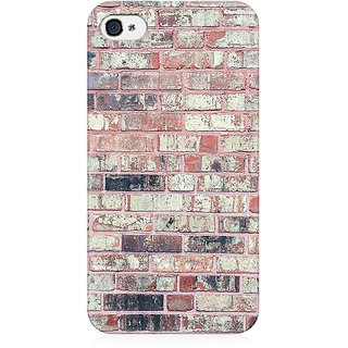 RAYITE Bricks Wall Preum Printed Mobile Back Case Cover For   4/4s