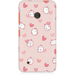 RAYITE Cute Puppy Toon Premium Printed Mobile Back Case Cover For Nokia Lumia 530