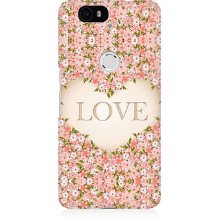 RAYITE Love Floral Premium Printed Mobile Back Case Cover For Huwaei Nexus 6P