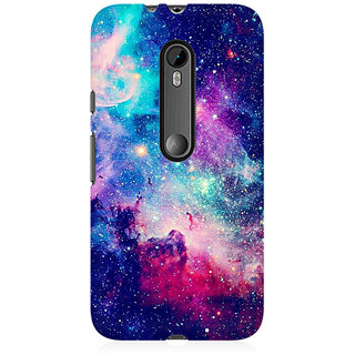 RAYITE Blue Galaxy Hub Premium Printed Mobile Back Case Cover For Moto X Force