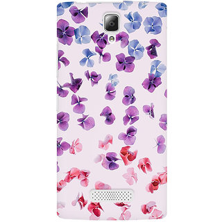 RAYITE Watercolor Flower Hub Premium Printed Mobile Back Case Cover For Lenovo A2010