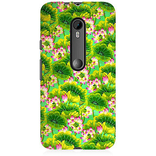 RAYITE Tropical Floral Premium Printed Mobile Back Case Cover For Moto X Force