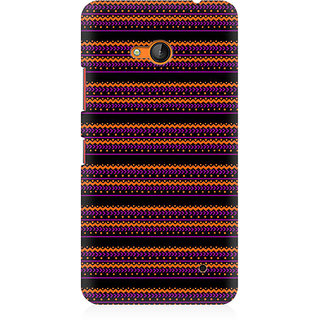 RAYITE Purple Geometric Pattern Premium Printed Mobile Back Case Cover For Nokia Lumia 640