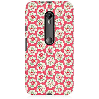 RAYITE Rose Flower Pattern Premium Printed Mobile Back Case Cover For Moto X Style