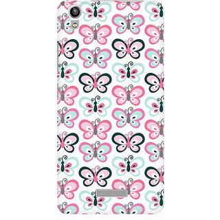 RAYITE Butterflies Pattern Premium Printed Mobile Back Case Cover For Lava Pixel V1