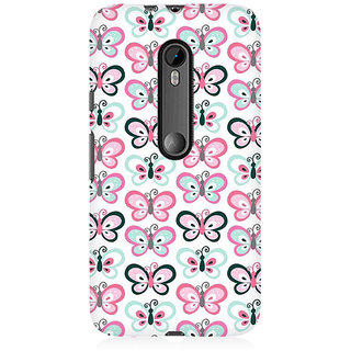 RAYITE Butterflies Pattern Premium Printed Mobile Back Case Cover For Moto X Style
