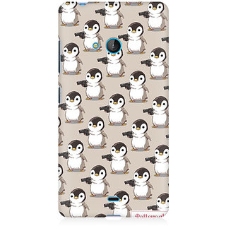 RAYITE Penguin With Guns Premium Printed Mobile Back Case Cover For Nokia Lumia 540