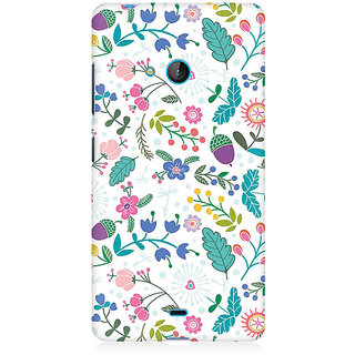 RAYITE Autumn Pattern Premium Printed Mobile Back Case Cover For Nokia Lumia 540
