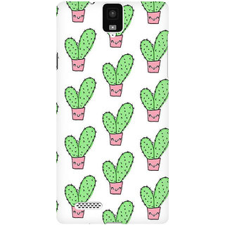 RAYITE Cactus Pattern Premium Printed Mobile Back Case Cover For InFocus M330