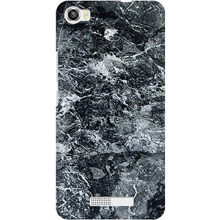 RAYITE Black Marble Premium Printed Mobile Back Case Cover For Lava Iris X8