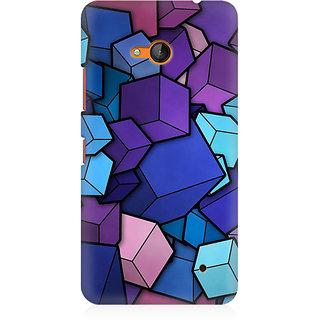RAYITE 3D Cubes Premium Printed Mobile Back Case Cover For Nokia Lumia 640