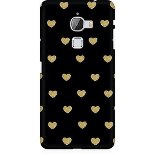 RAYITE Black Hearts Premium Printed Mobile Back Case Cover For LeEco Le Max