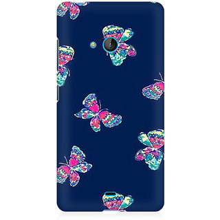 RAYITE Butterfly Pattern Premium Printed Mobile Back Case Cover For Nokia Lumia 540