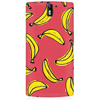 RAYITE Banana Fruity Pattern Premium Printed Mobile Back Case Cover For OnePlus One