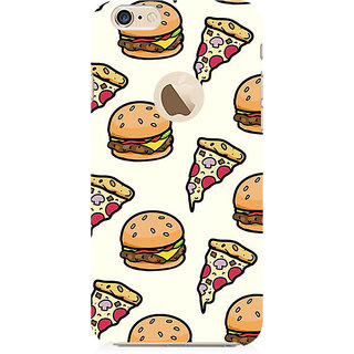 RAYITE Pizza Fast Food Preum Printed Mobile Back Case Cover For   6-6s With  Hole