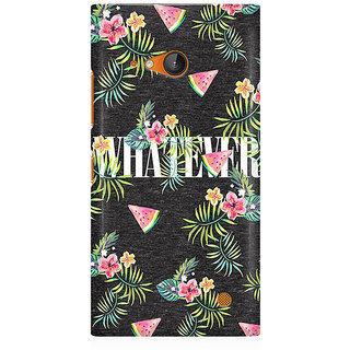 RAYITE Whatever Premium Printed Mobile Back Case Cover For Nokia Lumia 730