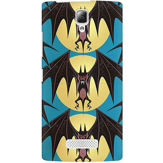 RAYITE Bat Pattern Premium Printed Mobile Back Case Cover For Lenovo A2010