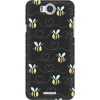 RAYITE Honey Bee Pattern Premium Printed Mobile Back Case Cover For InFocus M530
