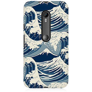 RAYITE Sea Waves Premium Printed Mobile Back Case Cover For Moto X Style