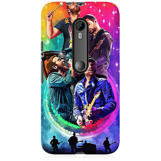RAYITE Coldplay Art Premium Printed Mobile Back Case Cover For Moto X Style