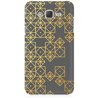 RAYITE Gold Geometric Pattern Premium Printed Mobile Back Case Cover For Samsung J1 2016 Version