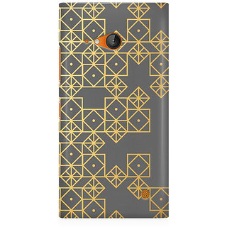 RAYITE Gold Geometric Pattern Premium Printed Mobile Back Case Cover For Nokia Lumia 730