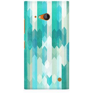 RAYITE Icy Chevron Pattern Premium Printed Mobile Back Case Cover For Nokia Lumia 730