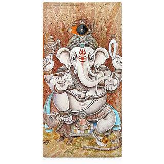 RAYITE Ganesha Premium Printed Mobile Back Case Cover For Nokia Lumia 730