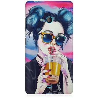 RAYITE Cool Girl Premium Printed Mobile Back Case Cover For Nokia Lumia 540