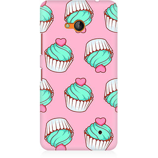 RAYITE Cup Cake With Cherry Premium Printed Mobile Back Case Cover For Nokia Lumia 640