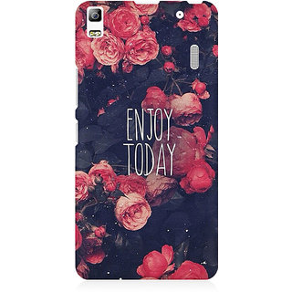 RAYITE Enjoy Today Premium Printed Mobile Back Case Cover For Lenovo A7000