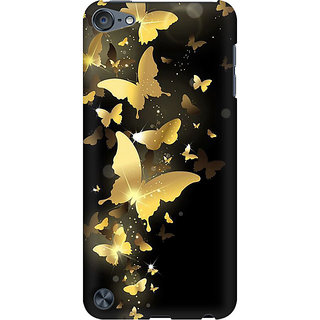 RAYITE Golden Butterflies Preum Printed Mobile Back Case Cover For  IPod Touch 5