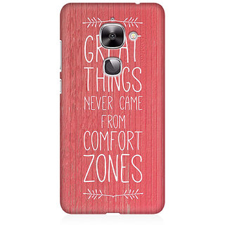 RAYITE Comfort Zone Premium Printed Mobile Back Case Cover For LeEco Le 2