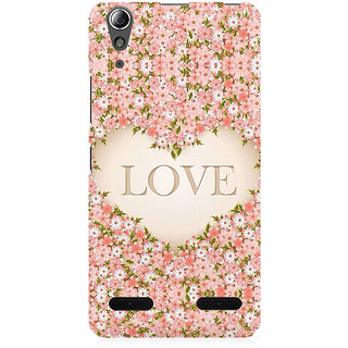 RAYITE Love Floral Premium Printed Mobile Back Case Cover For Lenovo A6000