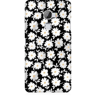 RAYITE White Daisy Pattern Premium Printed Mobile Back Case Cover For LeEco Le Max