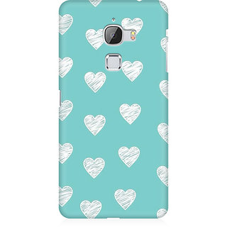 RAYITE White Hearts Pattern Premium Printed Mobile Back Case Cover For LeEco Le Max
