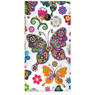 RAYITE Colourful Butterfly Premium Printed Mobile Back Case Cover For Nokia Lumia 730