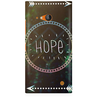 RAYITE Hope Premium Printed Mobile Back Case Cover For Nokia Lumia 730