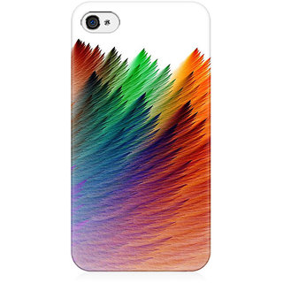 RAYITE Colourful Preum Printed Mobile Back Case Cover For   4/4s