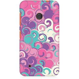 RAYITE Colourful Waves Premium Printed Mobile Back Case Cover For Nokia Lumia 530