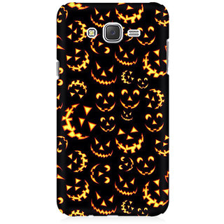 RAYITE Halloween Pattern Premium Printed Mobile Back Case Cover For Samsung J1 2016 Version