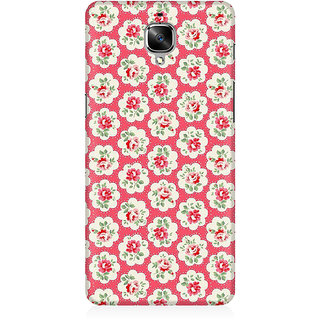 RAYITE Rose Flower Pattern Premium Printed Mobile Back Case Cover For OnePlus Three