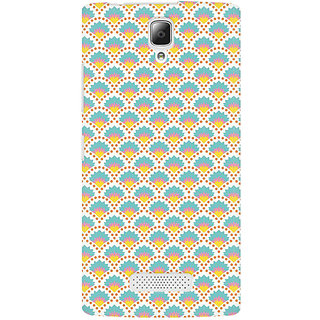 RAYITE Colourful Shell Pattern Premium Printed Mobile Back Case Cover For Lenovo A2010