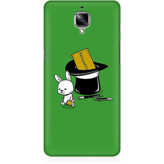 RAYITE Resignation By Rabbit Premium Printed Mobile Back Case Cover For OnePlus Three
