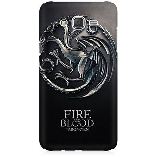 RAYITE Fire Blood GOT Premium Printed Mobile Back Case Cover For Samsung J1