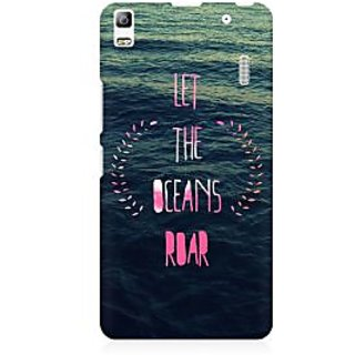 RAYITE Let The Ocean Roar Premium Printed Mobile Back Case Cover For Lenovo A7000