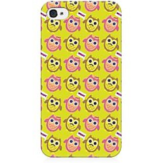 RAYITE Hoot Owl Pattern Premium Printed Mobile Back Case Cover For Apple IPhone 4/4s