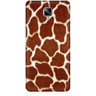 RAYITE Tiger Fur Pattern Premium Printed Mobile Back Case Cover For OnePlus Three